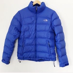 The North Face Nuptse 700 fill Blue Puffer Jacket